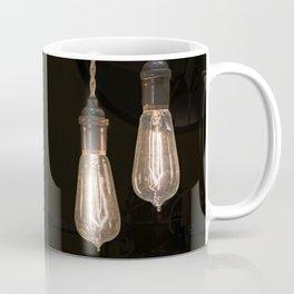 Industrial Vintage Light Bulbs Hanging from Pulleys Coffee Mug