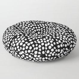 Bryan - black and white minimal dots polka dots cell phone iphone6 case trendy urban brooklyn minima Floor Pillow