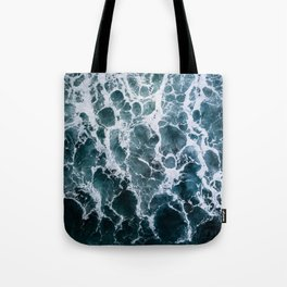 Minimalistic Veins in a Wave  - Seascape Photography Tote Bag
