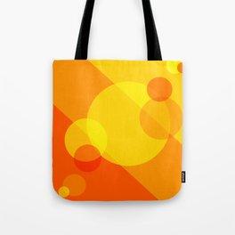 Orange Spheres Abstract Tote Bag