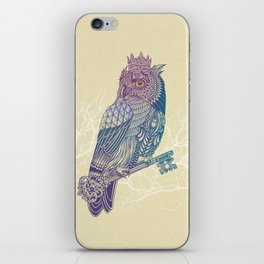 Owl King Color iPhone Skin
