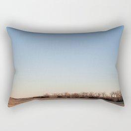 Scrubby Trees on Nebraska Plains Rectangular Pillow