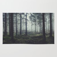 trees Area & Throw Rugs featuring Through The Trees by Tordis Kayma