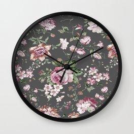 peony shabby chic Wall Clock