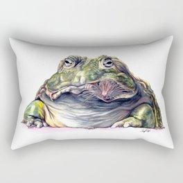Bullfrog Snacking Rectangular Pillow
