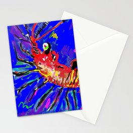 Lobster Digital Drawing Stationery Cards