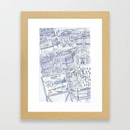 Riverdale Map Framed Art Print