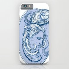 Octopus/girl in blue iPhone 6s Slim Case
