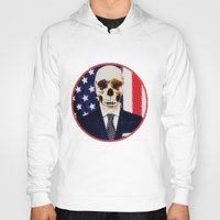 politics Hoodies featuring Deadly Politics by Devin Deadly
