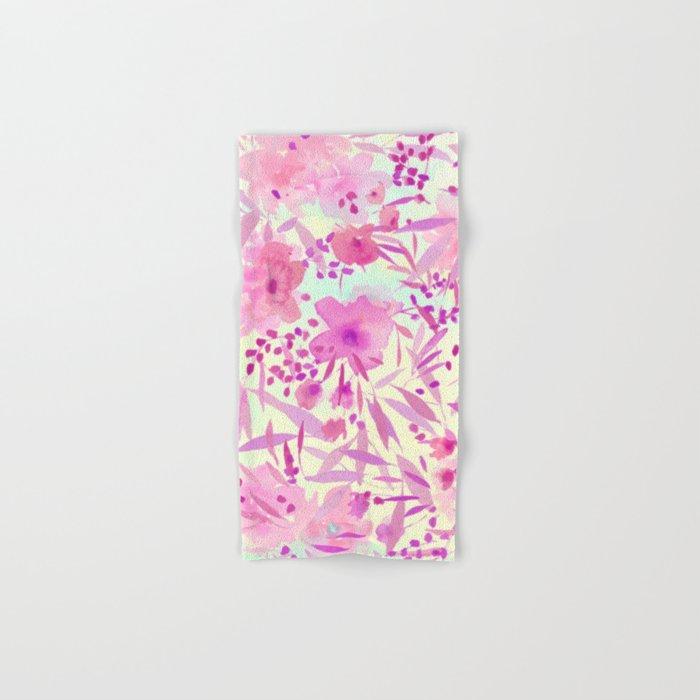 pink pretty flowers Hand & Bath Towel