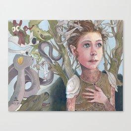 Horns and Armor Canvas Print