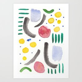 Shapes and Color Art Print