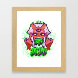 Lily FTW in Green Framed Art Print