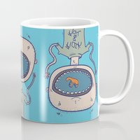 rock and roll Mugs featuring Rock & Roll by Molly Yllom Shop