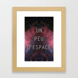 a little bit of space Framed Art Print