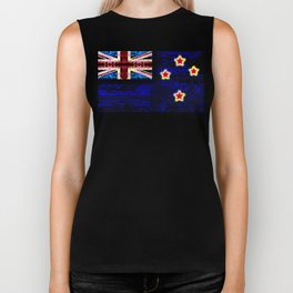 circuit board new zealand (flag) Biker Tank
