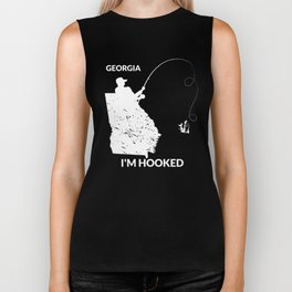 GA Georgia Fishing T Shirt Gift for Fishermen and Anglers Biker Tank