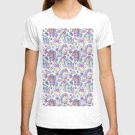 Modern hand painted purple violet magic unicorn illustration T-shirt