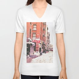 New York City Snow Soho Unisex V-Neck
