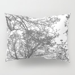 Grey Trees Abstract Pillow Sham