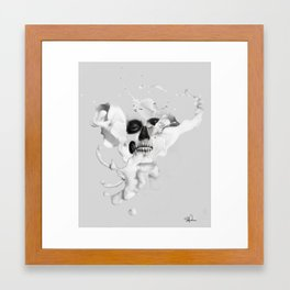 Milk - An Abstract look into Anatomy Framed Art Print