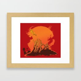 The Rise of the Zombie Apocalypse  Framed Art Print