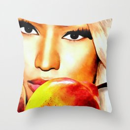 Nicki Eyes Throw Pillow