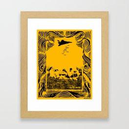 No fly zone. Framed Art Print