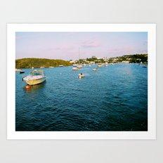 Out At Sea | Sail boats | Bermuda Art Print