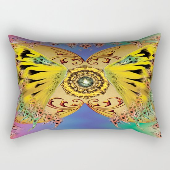 The dance of the butterfly Rectangular Pillow