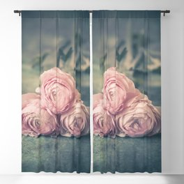 Lovely Ranunculus Blackout Curtain