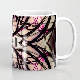 Loopy Lines Abstract Art Plum and Peach Coffee Mug