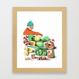 Market 01 Framed Art Print