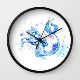 Unicorn-Mermaid Wall Clock