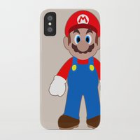 sticker iPhone & iPod Cases featuring Sticker Mario by Rebekhaart