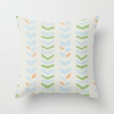 Chevron pale Throw Pillow