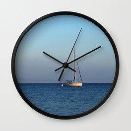 sailing in palamutbükü Wall Clock