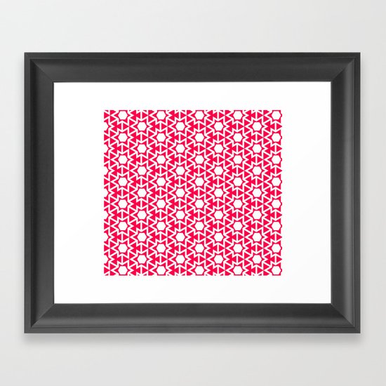 Zoutman Neon Pink Pattern Framed Art Print