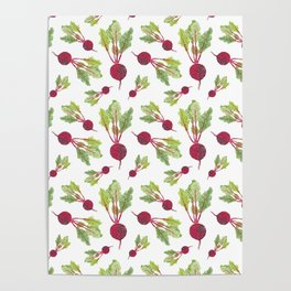Feel the Beet in Radish White Poster