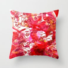 Forget It < The NO Series (Red) Throw Pillow