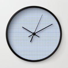 Navy Polka Dots Wall Clock
