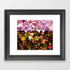 Out in the country where the Bunyips run Framed Art Print