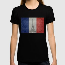Eiffel tower with French flag T-shirt