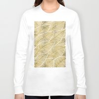 tropical Long Sleeve T-shirts featuring Tropical Gold by Cat Coquillette