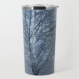 Frosted Trees Travel Mug