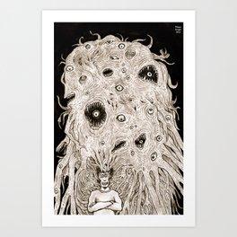 My brain needs help Art Print