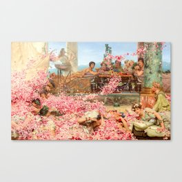 The Roses of Heliogabalus by Sir Lawrence Alma-Tadema Canvas Print