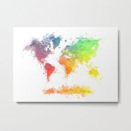World Map splash 4 Metal Print