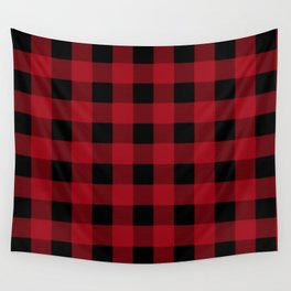 Red Buffalo Plaid Wall Tapestry