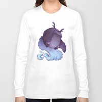 depression Long Sleeve T-shirts featuring Real Monsters- Depression by Zestydoesthings